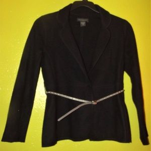Banana Republic Black 100% Wool Jacket
